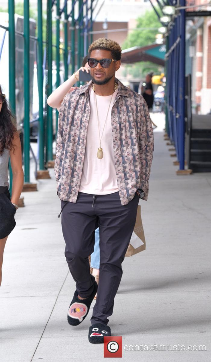 Usher out and about in TriBeCa