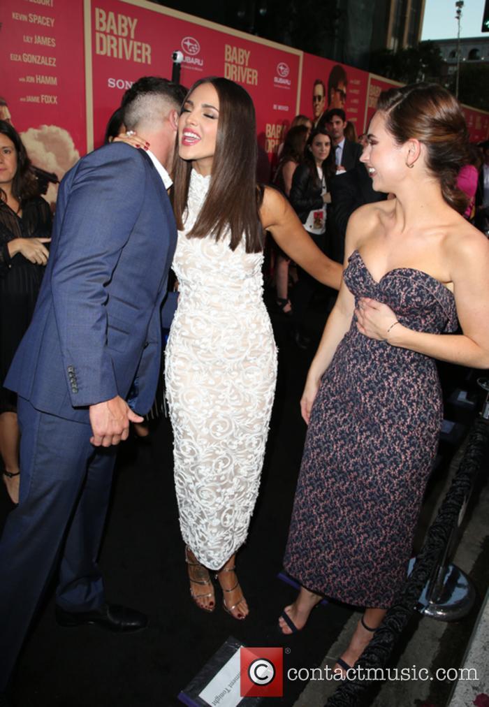 Jon Bernthal, Eiza Gonzalez and Lily James 6