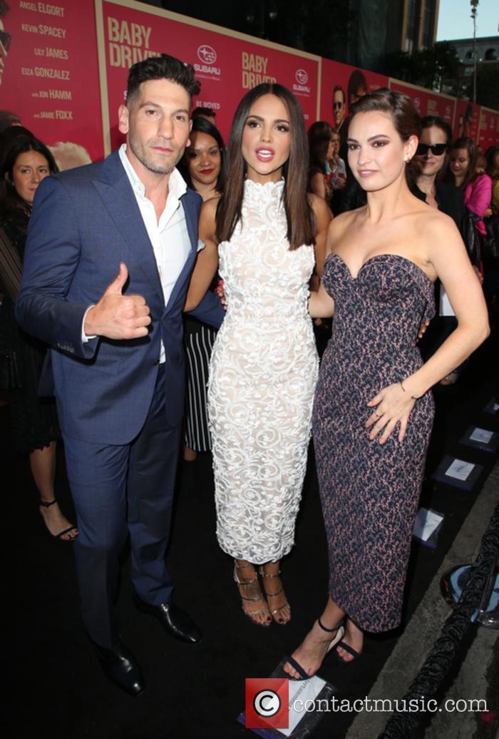 Jon Bernthal, Eiza Gonzalez and Lily James 11