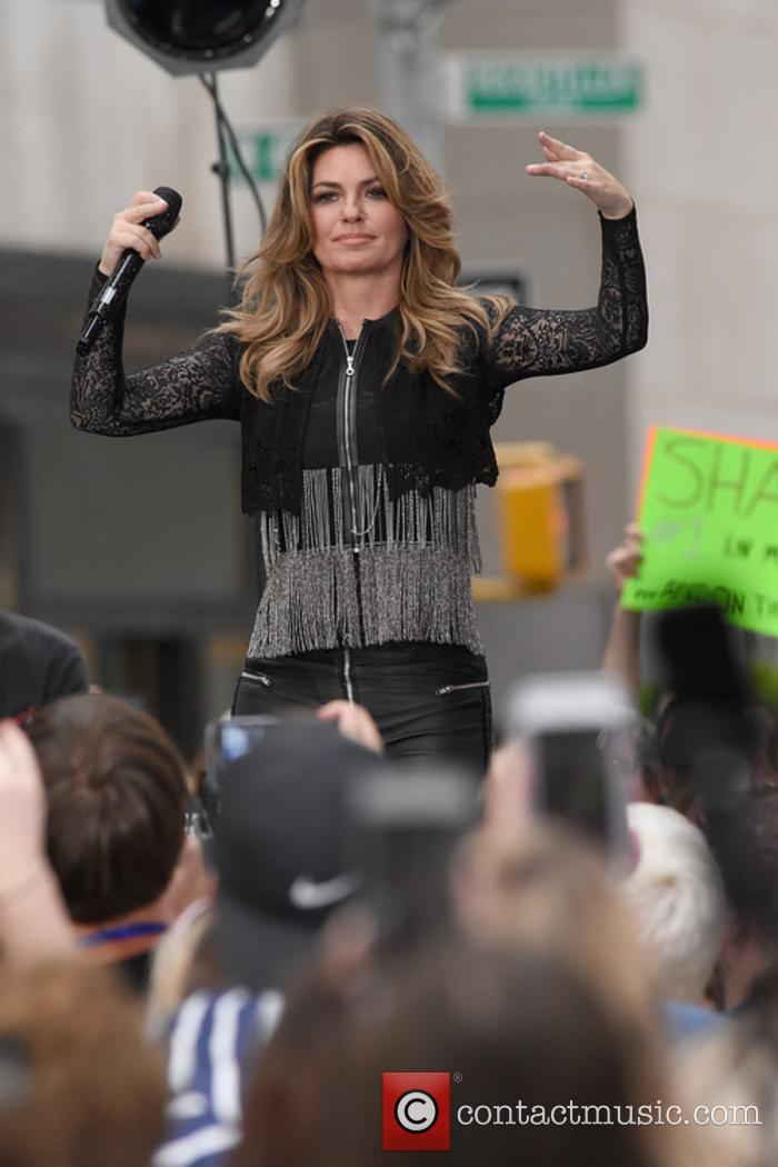 Shania Twain performs on The Today Show