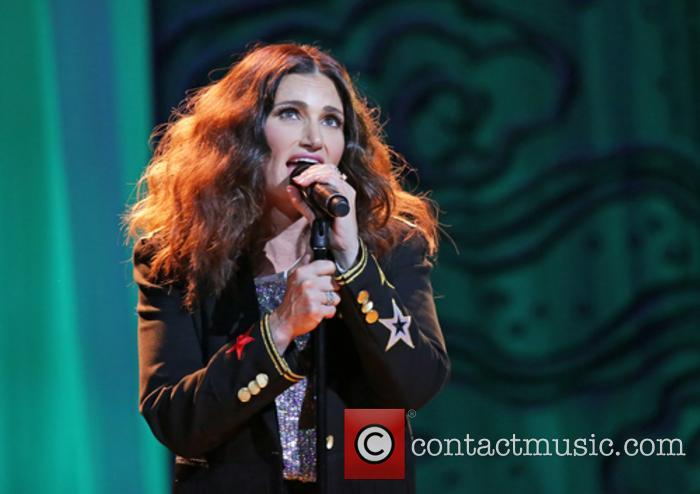 Idina Menzel performing in Manchester