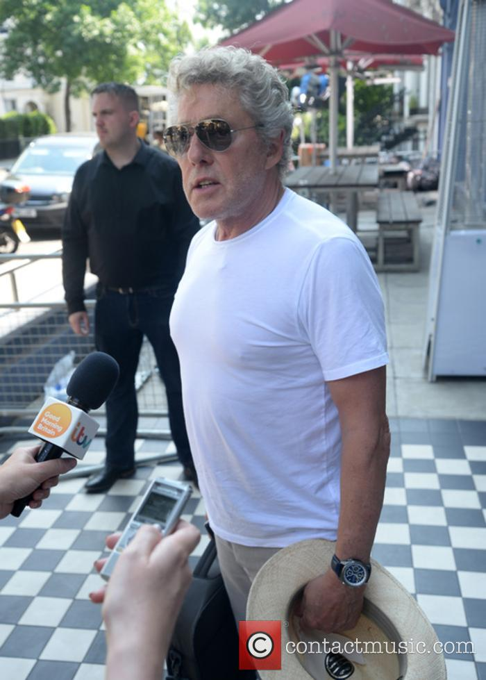Roger Daltrey pictured at Sarn Studios