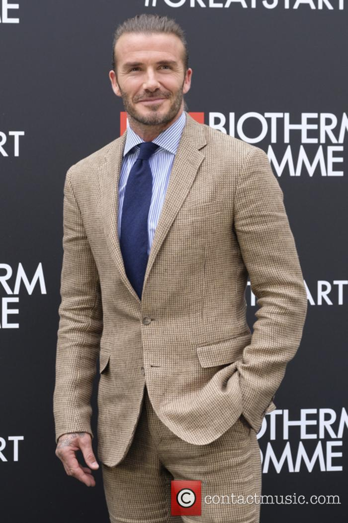 David Beckham snapped on the red carpet