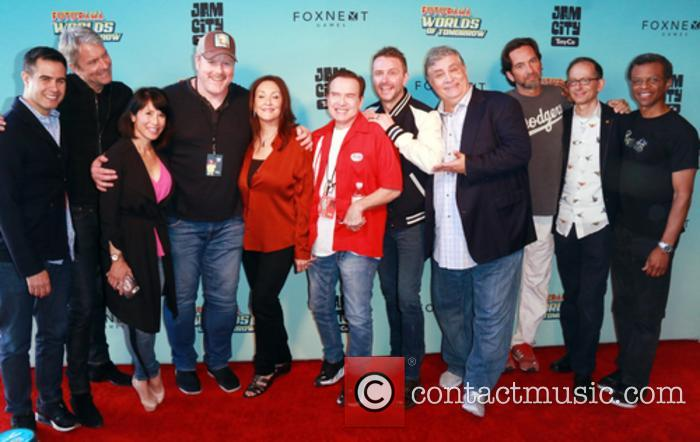 Chris Dewolfe, Josh Yguado, Lauren Tom, John Dimaggio, Tress Macneille, Billy West, Maurice Lamarche, David Herman, David X Cohen and Phil Lamarr