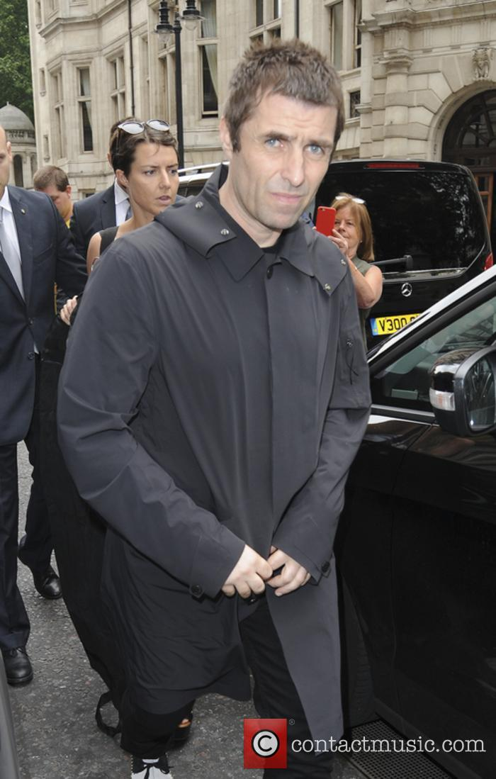 Liam Gallagher snapped outside his hotel