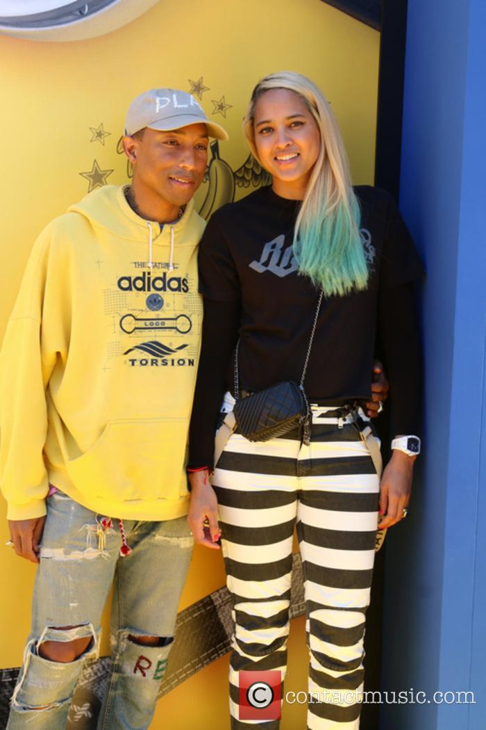 Pharrell Williams and Helen Lasichanh at the 'Despicable Me 2' premiere