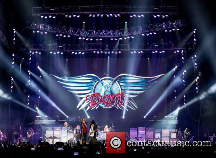 Aerosmith performing live at Meo Arena