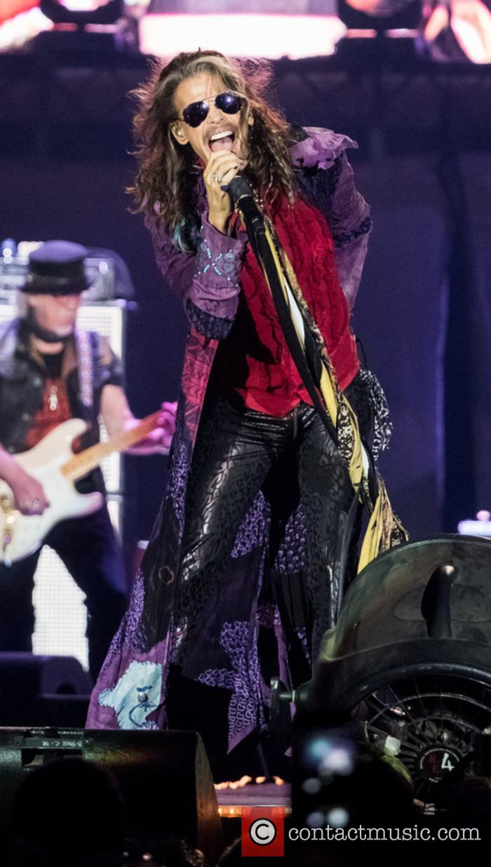 Steven Tyler performs live with Aerosmith