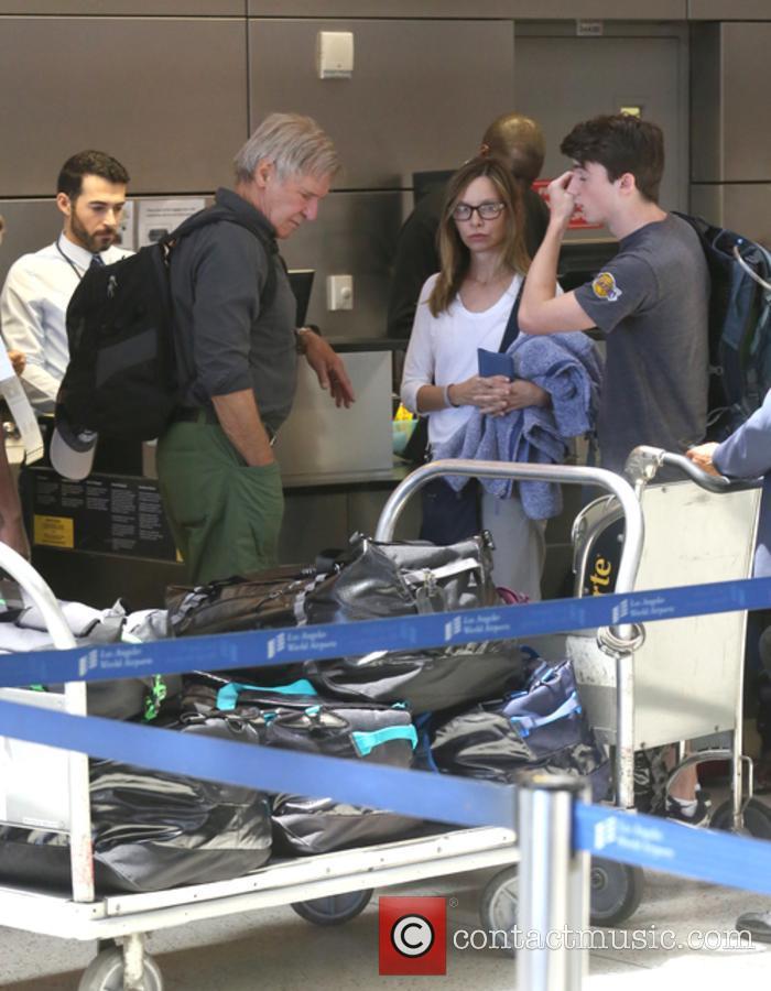 Harrison Ford, Calista Flockhart and Liam Flockhart 10