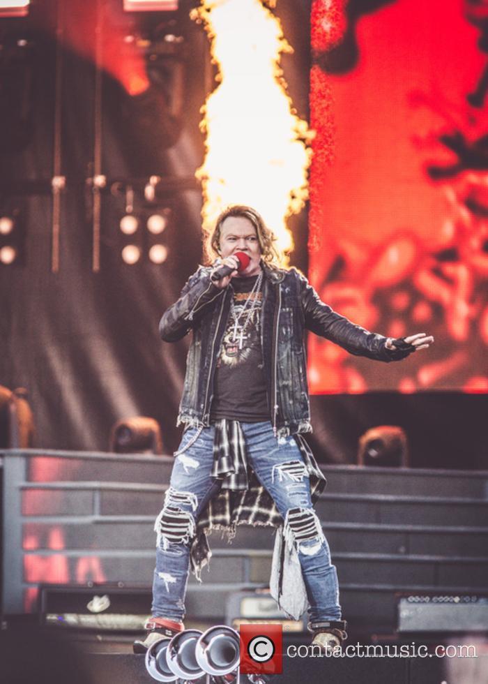 Guns N' Roses performing live 2017