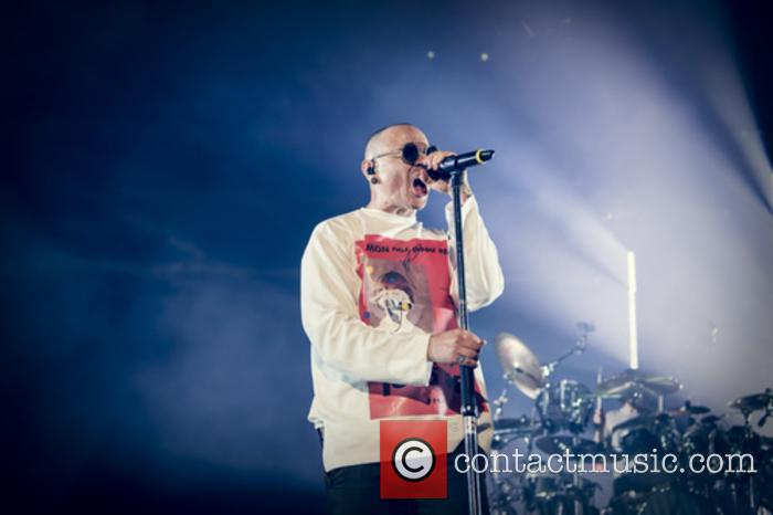 Linkin Park performing live in London