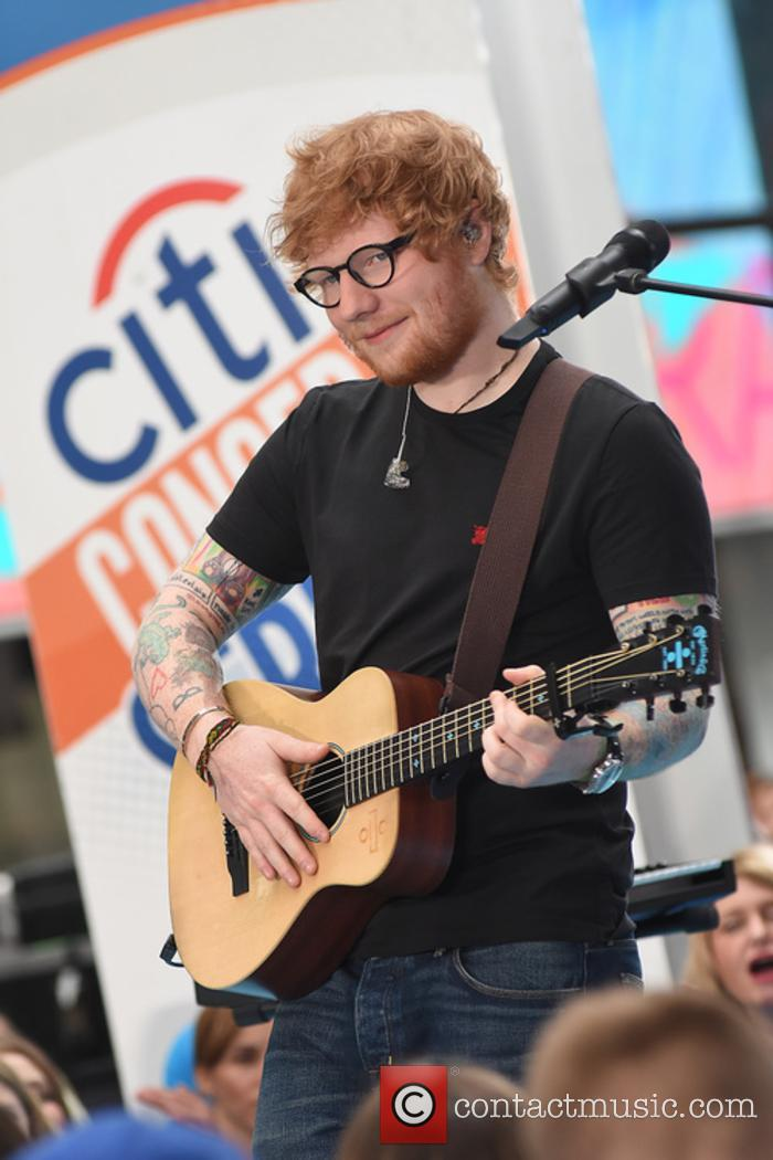 Ed Sheeran performs on the 'Today' show
