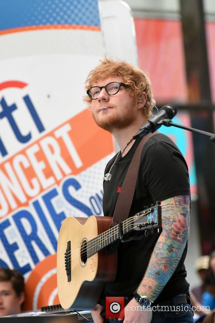 Ed Sheeran performs at the 'Today' show
