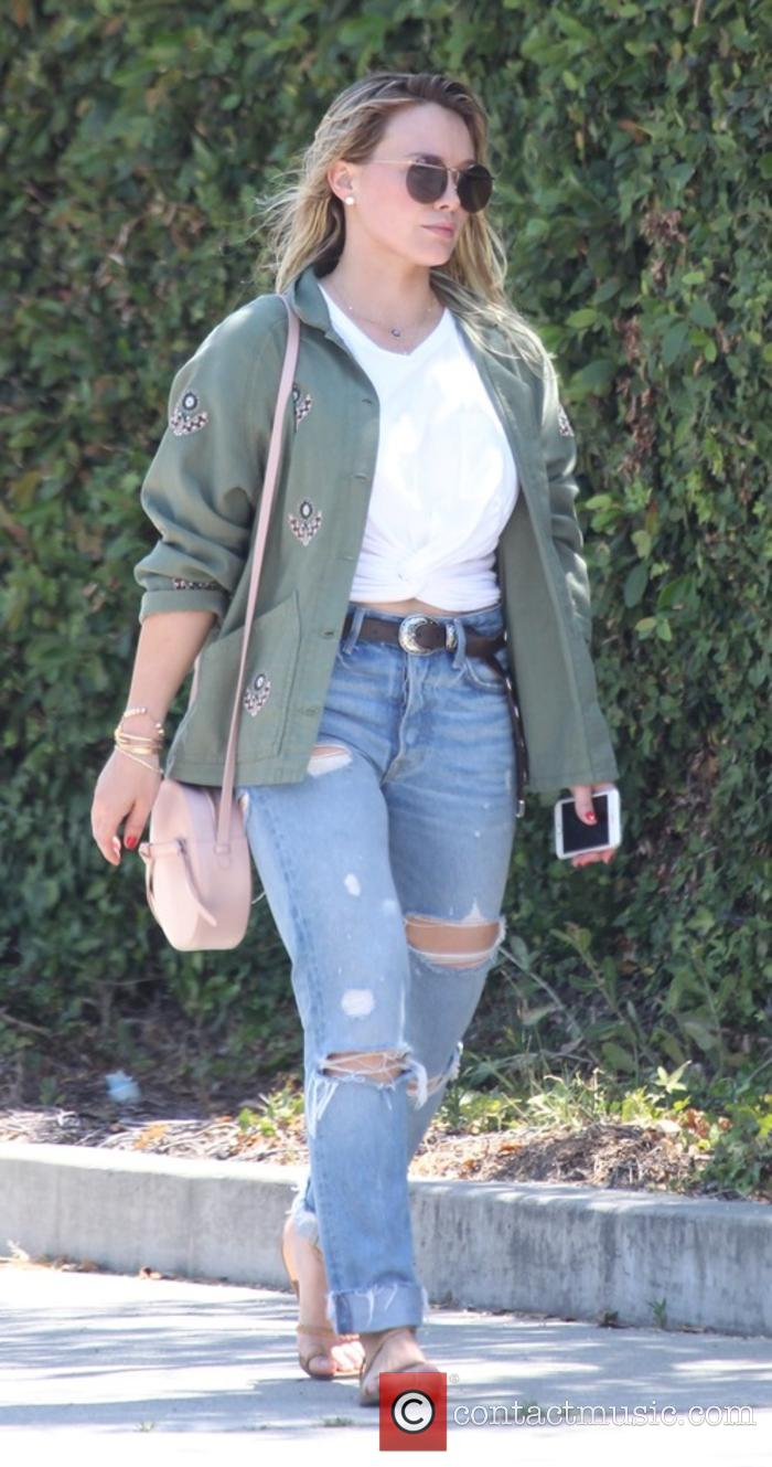 Hilary Duff snapped on her way to a hair salon