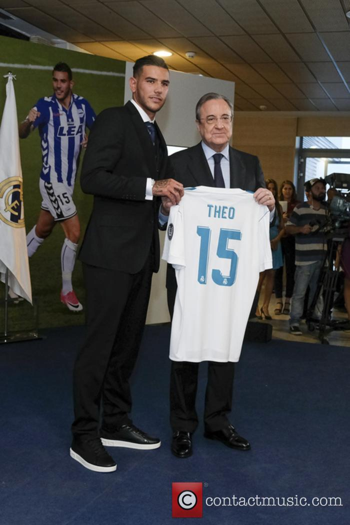 Real Madrid, Theo Hernandez and Florentino Perez 2