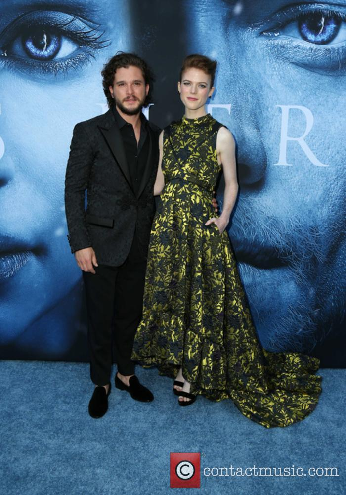 Kit Harington and Rose Leslie at the 'Game of Thrones' season 7 premiere