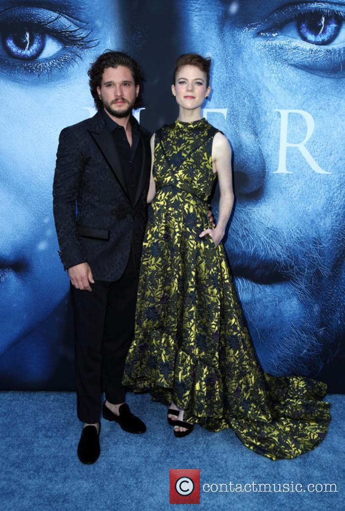 Kit Harington and Rose Leslie at 'Game of Thrones' premiere