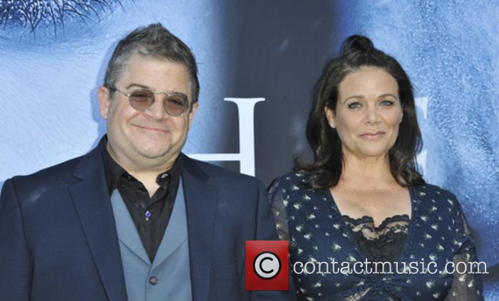 Patton Oswalt and Meredith Saleng
