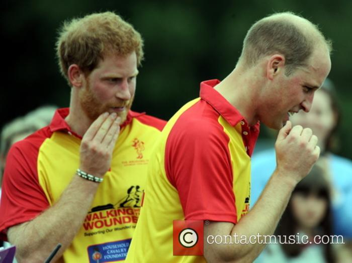 Prince Harry and Prince William play polo together