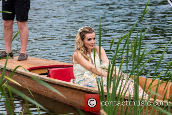 Kathrine Jenkins in a gondola