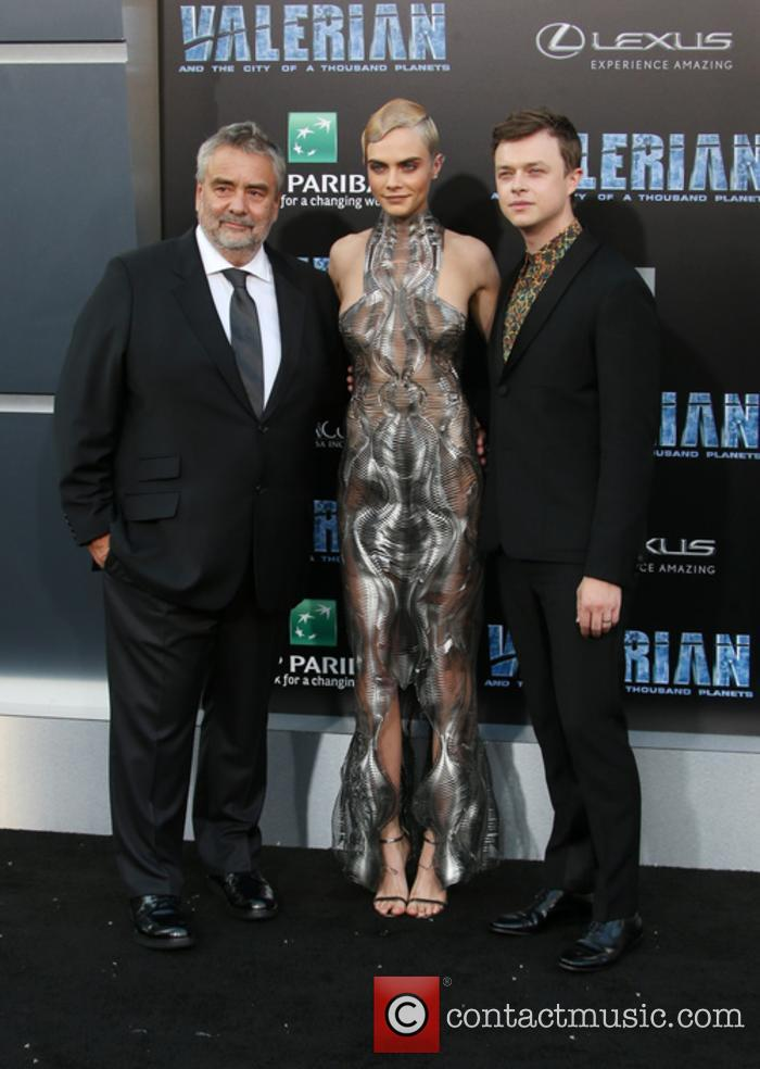 Luc Besson, Cara Delevingne and Dane Dehaan 3