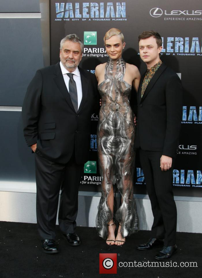 Luc Besson, Cara Delevingne and Dane Dehaan 4