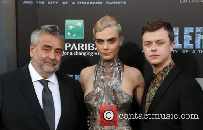 Luc Besson, Cara Delevingne and Dane Dehaan 5