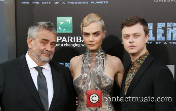 Luc Besson, Cara Delevingne and Dane Dehaan 6