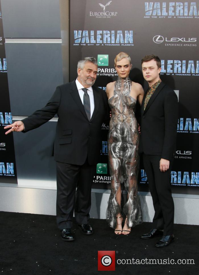 Luc Besson, Cara Delevingne and Dane Dehaan 7