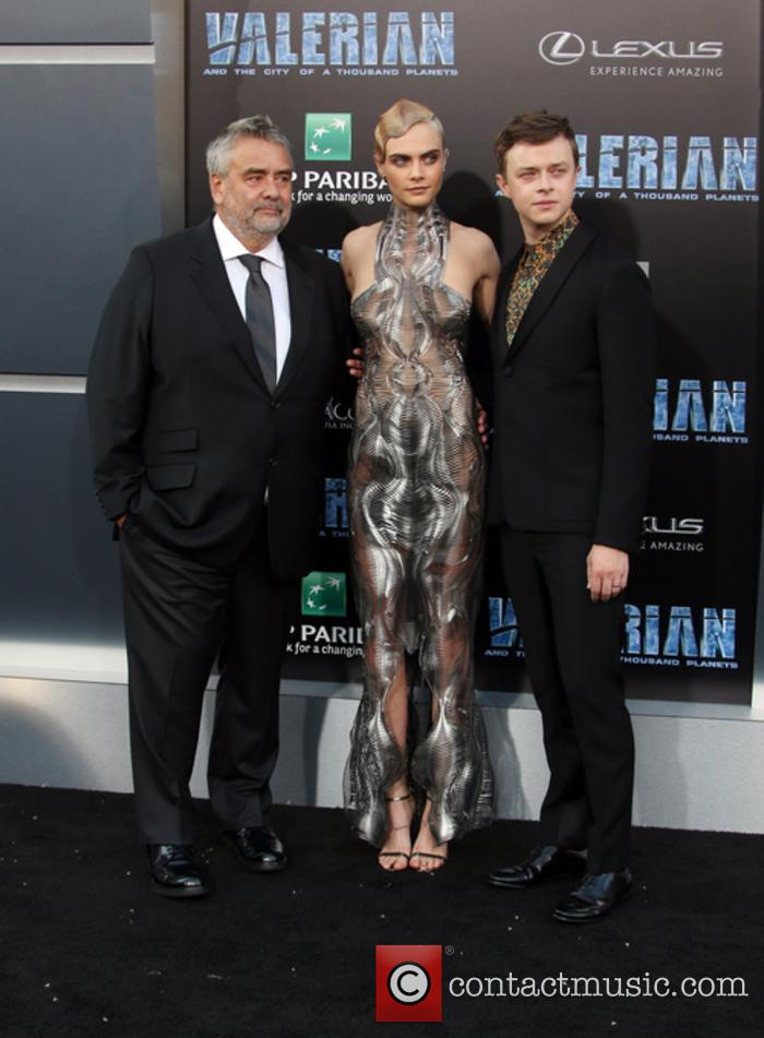 Luc Besson, Cara Delevingne and Dane Dehaan 8