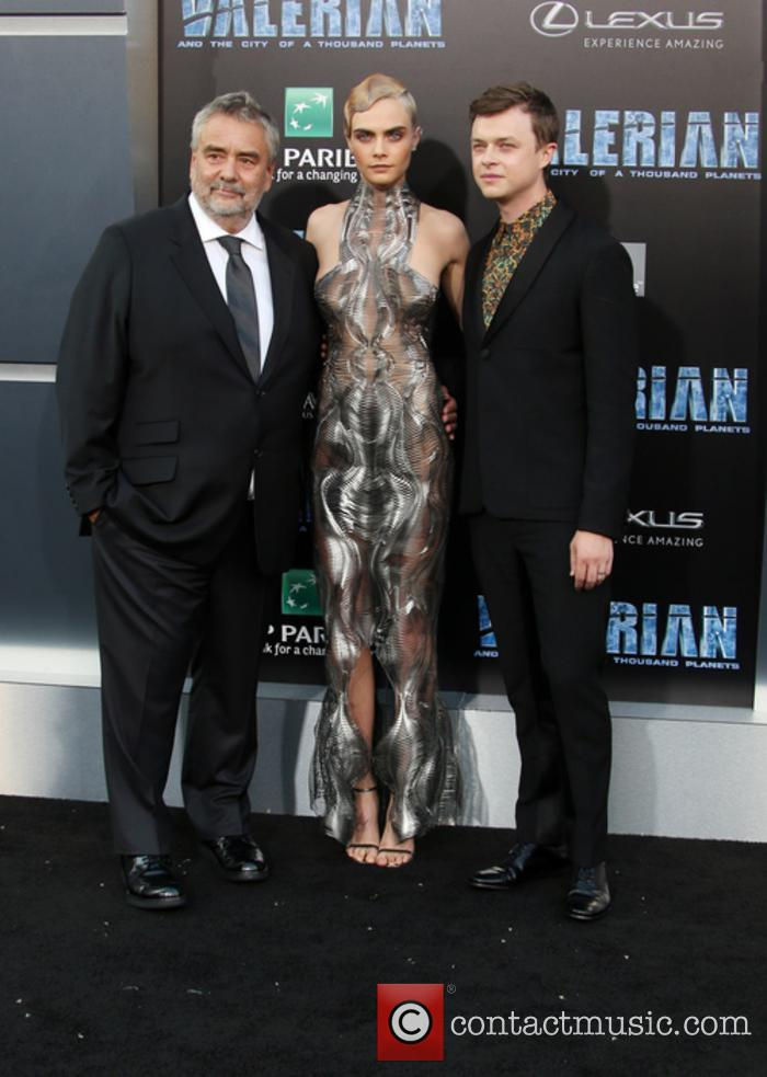 Luc Besson, Cara Delevingne and Dane Dehaan 10