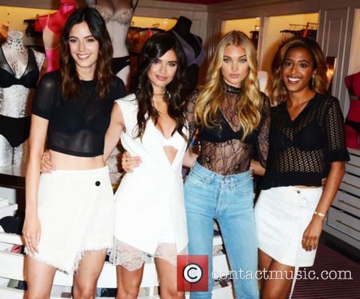 Victoria Secret Angels celebrate the Victoria's Secret T-Shirt...