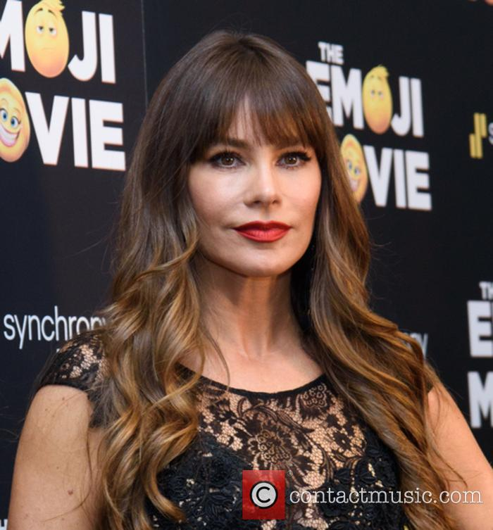 Sofia Vergara at The Emoji Movie screening