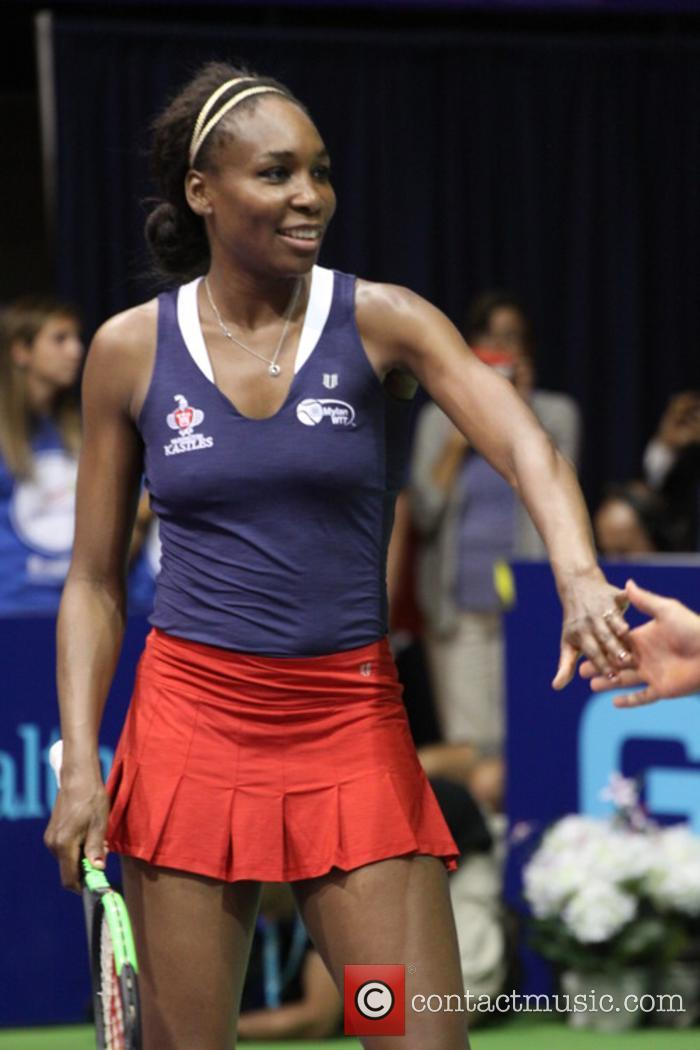 Venus Williams at Mylan World Team tennis game