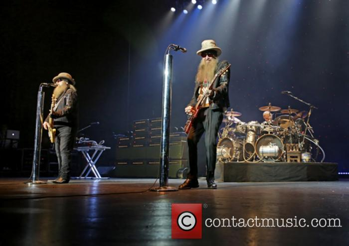 Zz Top, Dusty Hill, Billy Gibbons and Frank Beard