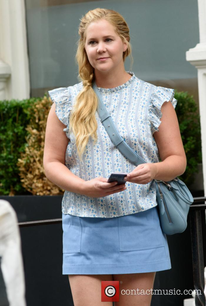 Amy Schumer on the set of 'I Feel Pretty'