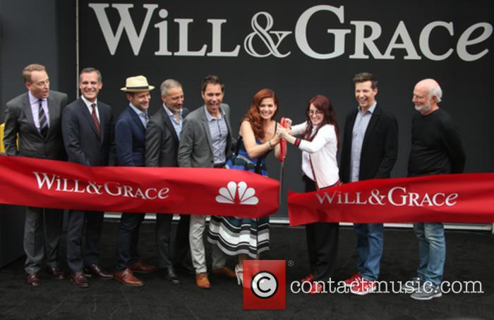 Bob Greenblatt, Eric Garcetti, David Kohan, Max Mutchnick, Eric Mccormack, Debra Messing, Megan Mullally, Sean Hayes and James Burrows 2