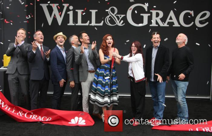 Bob Greenblatt, Eric Garcetti, David Kohan, Max Mutchnick, Eric Mccormack, Debra Messing, Megan Mullally, Sean Hayes and James Burrows 4