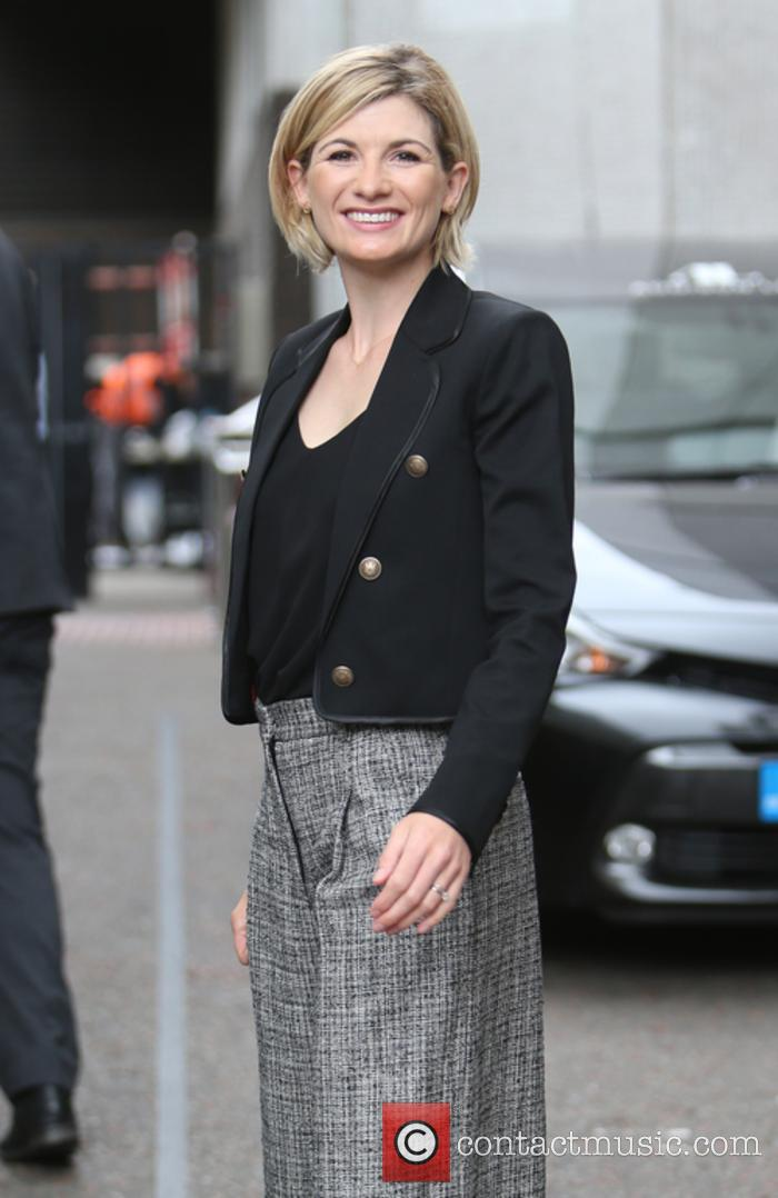 Jodie Whittaker snapped outside the ITV studios