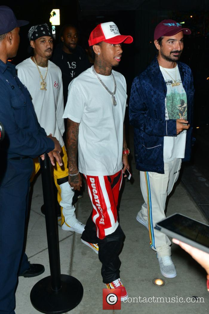Tyga at a Maxxfield Pop Up Store Event