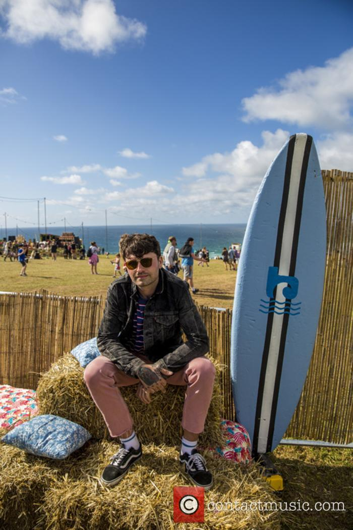 Mike Duce soaks up the sun at Boardmasters