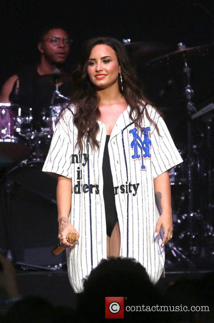 Demi Lovato at the Billboard Hot 100 Festival
