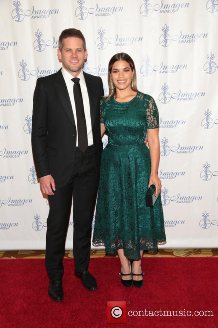 America Ferrera and Ryan Piers Williams at the Imagen Awards
