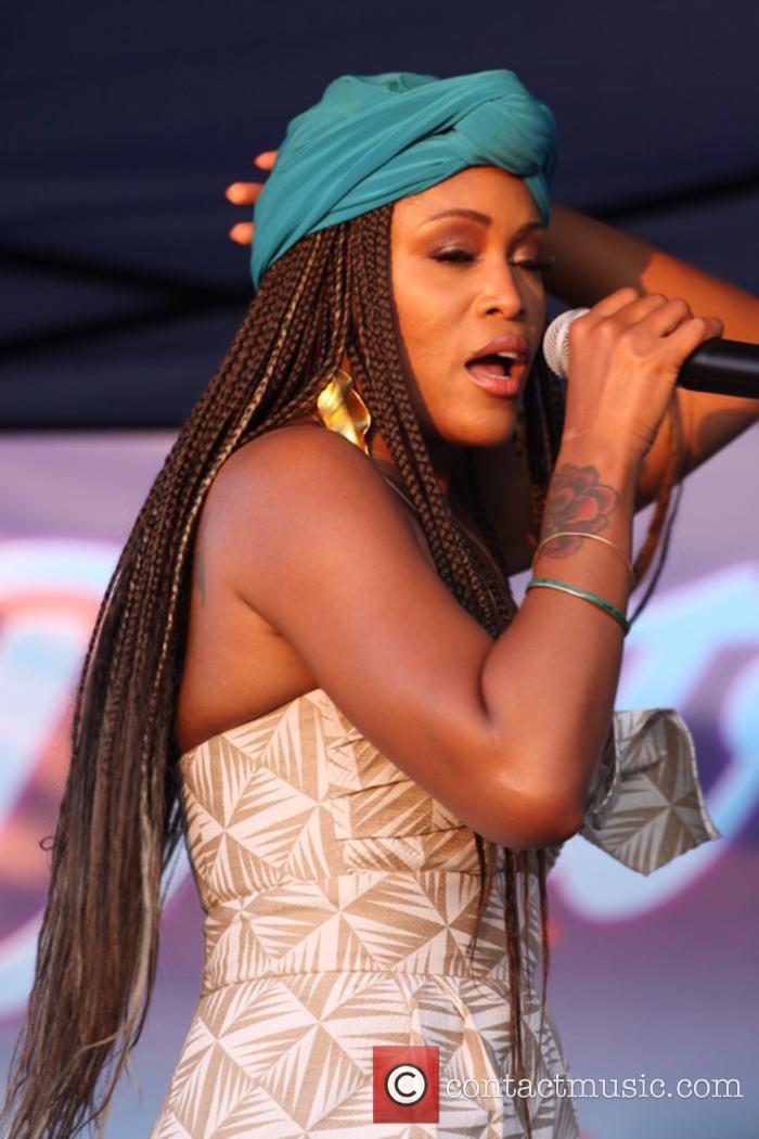 Eve performing at the District Community Day