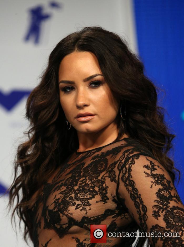 Demi Lovato at the 2017 MTV VMAs