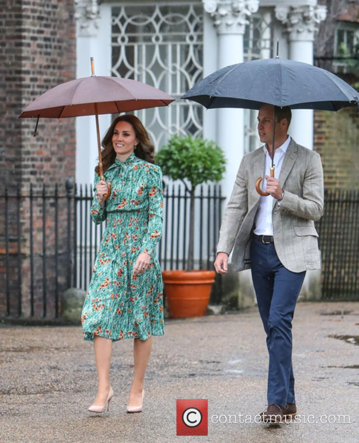 The Duke and Duchess of Cambridge at a public engagement at Kensington Palace's White Garden