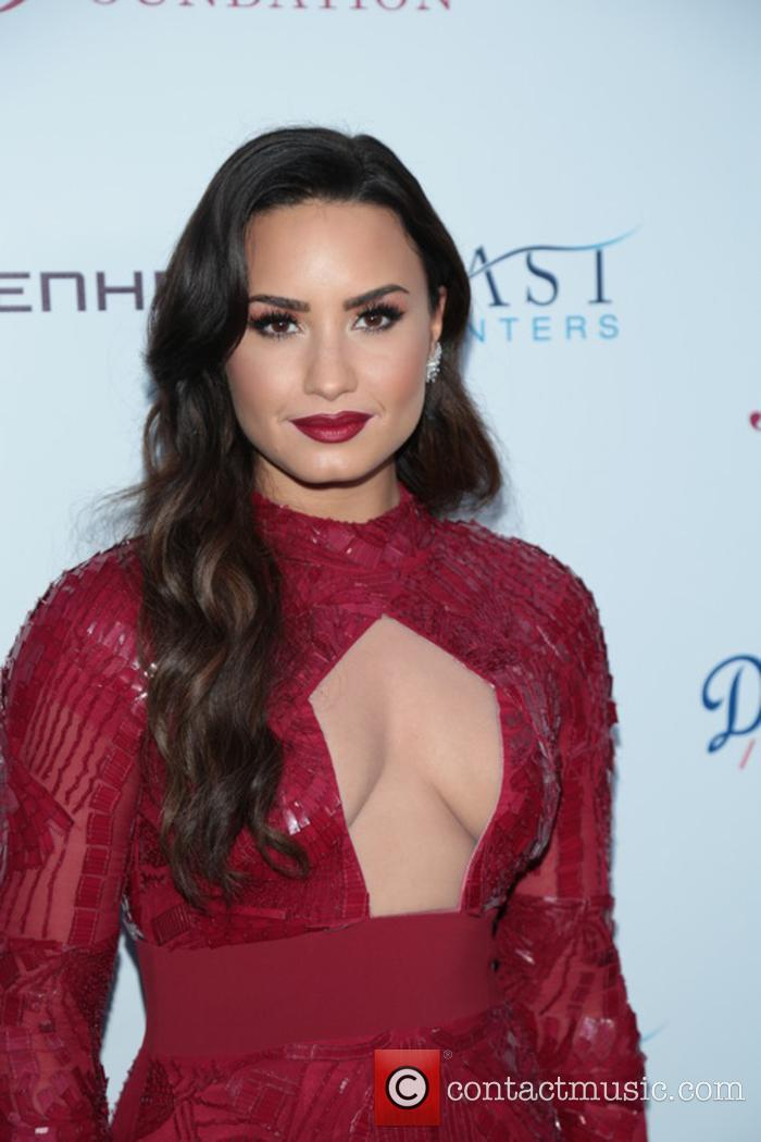 Demi Lovato at a Brent Shapiro Foundation event