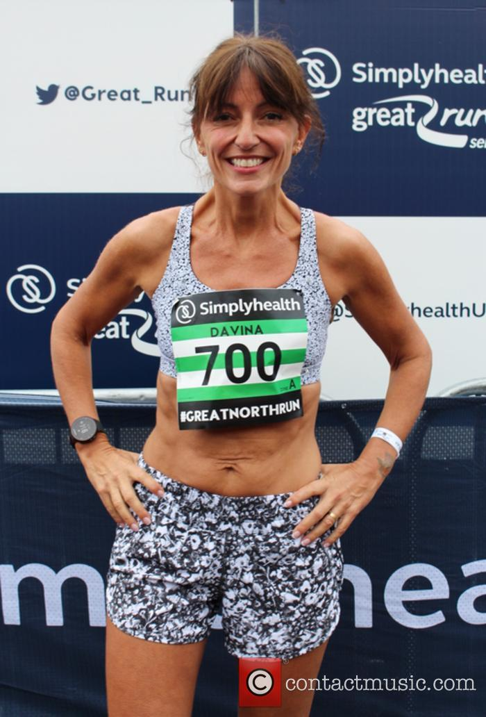 Davina McCall at the SimplyHealth Great North Run