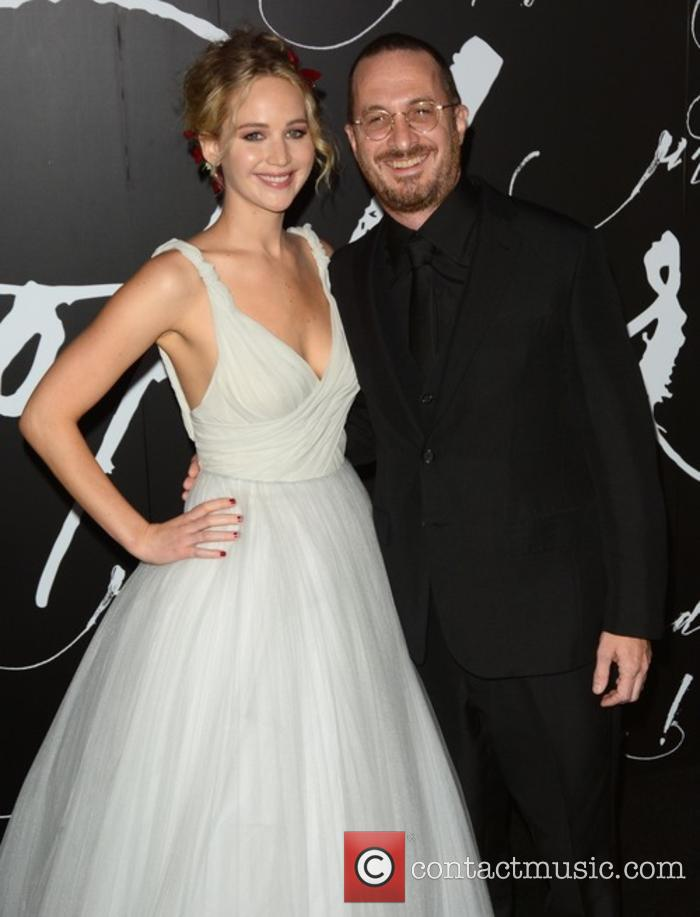 Jennifer Lawrence and Darren Aronofsky at 'Mother!' premiere