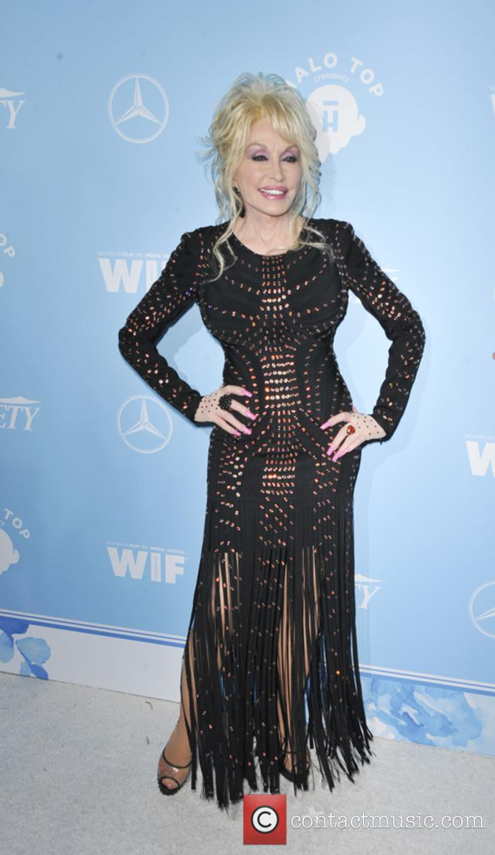 Dolly Parton at the Women In Film Pre-Emmy party